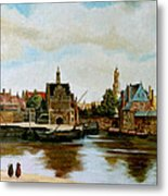 The View Of Delft Metal Print