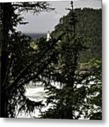 The View Of The Heceta Lighthouse Metal Print