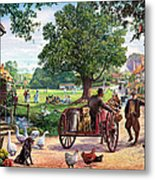 The Village Green Metal Print