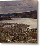 The Village Of Cold Spring And The Hudson River Metal Print