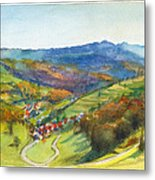 The Village Of Wieden In The Black Forest Metal Print