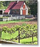 The Vineyard Barn Metal Print