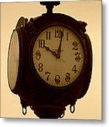 The Vintage Town Clock Metal Print