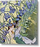 The Violets Lively Flowers Metal Print