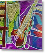 The Violin Metal Print