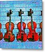 The Violin Store Metal Print