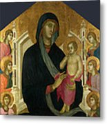 The Virgin And Child With Six Angels Metal Print