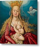 The Virgin As Queen Of Heaven Suckling The Infant Christ Metal Print