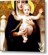 The Virgin Of The Lilies Metal Print