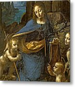The Virgin Of The Rocks Metal Print