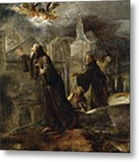 The Vision Of St Francis Of Paola Metal Print
