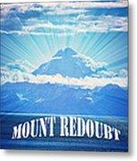 The Volcano Mt Redoubt Metal Print