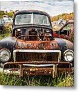 The Volvo Junkyard Metal Print