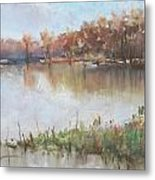 The Wabash-out Of Its Banks Metal Print
