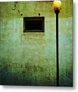 The Wall And The Lamppost Metal Print