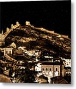 The Walls Of Albarracin In The Summer Night Spain Metal Print