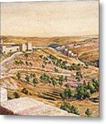 The Walls Of Jerusalem, 1869 Metal Print