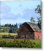 The Warmth Of The Barn Metal Print