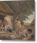 The Warrener, Engraved By William Ward 1766-1826, Pub. By H. Morland, 1806 Mezzotint Engraving Metal Print
