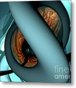 The Watcher Abstract Metal Print