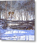 The Watcher In The Wood Metal Print by Richard De Wolfe