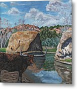 The Water Hole Metal Print