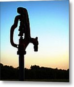 The Water Hydrant Metal Print