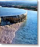 The Water With White Paint Metal Print