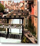 The Waterways Of  Old Annecy Metal Print