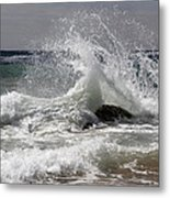 The Wave And The Rock Metal Print