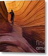 The Wave Beauty Of Sandstone 1 Metal Print