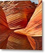 The Wave With Reflection Metal Print