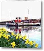The Waverley Sails Down The River Clyde. Metal Print