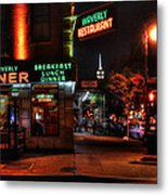 The Waverly Diner And Empire State Building Metal Print
