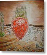 The Way To Strawberry Meteora Metal Print