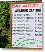 The Weather Report Metal Print