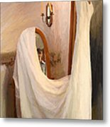 The Wedding Gown Is Ready Metal Print