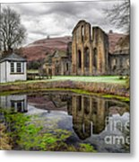 The Welsh Abbey Metal Print by Adrian Evans