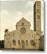 The West Facade Of The Church Of Saint Mary In Utrecht Metal Print