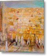 The Western Wall Metal Print