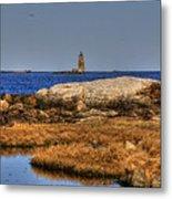 The Whaleback Lighthouse Metal Print