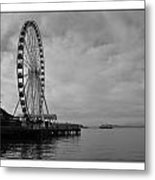 The Wheel And The Ferry Metal Print