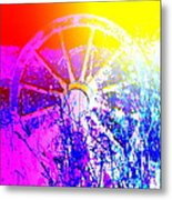 I Have A Wheel Of Colors But It's Standing Still  Metal Print