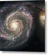 The Whirlpool Galaxy M51 And Companion Metal Print by Adam Romanowicz