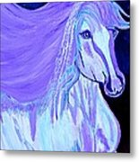 The White And Purple Horse 1 Metal Print