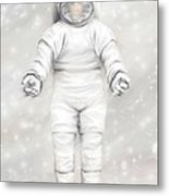 The White Astronaut Metal Print by Tharsis Artworks