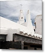 Binibeca Vell In Menorca Is A Small Fishermen Villa With The Taste Of Past Times - The White Chapel Metal Print