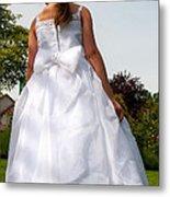 The White Dress Metal Print