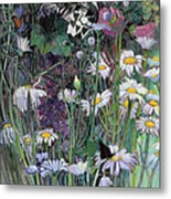 The White Garden Metal Print