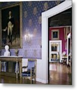 The White House Blue Room Metal Print